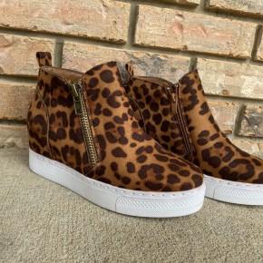 Leopard Wedge Sneakers *Final Sale*
