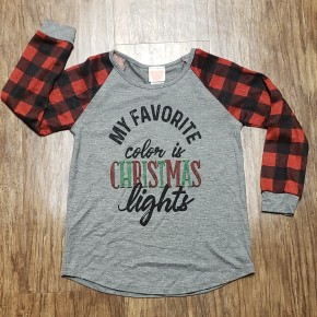 Toddlers My Favorite Color Is Christmas Top