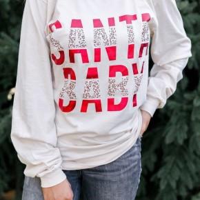 Cream Santa Baby