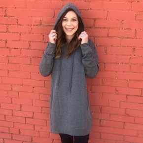 Game Day Hoodie Tunic- Gray