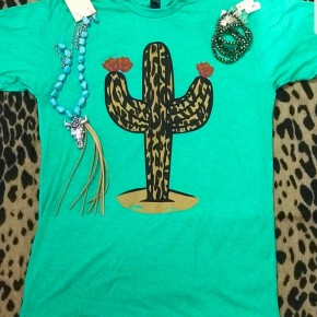 Stand Tall Leopard Cactus Tee