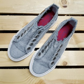 Kids Sweet Grey Blowfish Sneaks