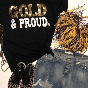 Gold and Proud Gameday tee
