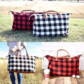Buffalo Plaid Weekender Bags