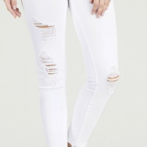 Judy Blue White Destroyed Skinny Jeans