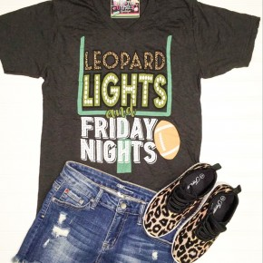 Leopard Lights And Friday Nights Tee