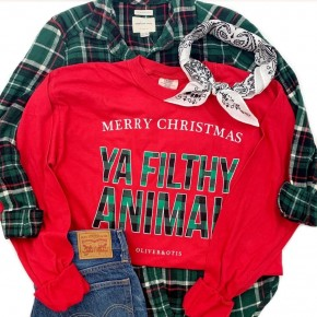 PRE-ORDER MERRY CHRISTMAS ya filthy animal Long Sleeve