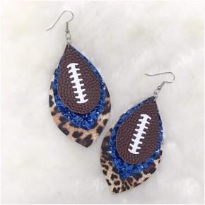 PRE-ORDER Gameday Football Earrings 3 Layer- Football/ glitter/ leopard