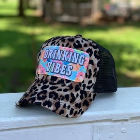 Drinking Vibes Leopard Hat