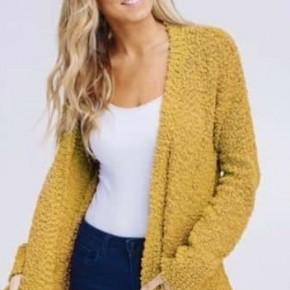 Mustard Popcorn Sweater