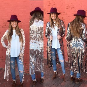 Gatsby Nights Sequin Duster