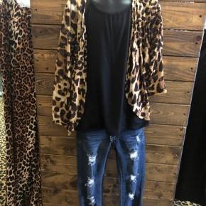 Girls Leopard Print Kimono