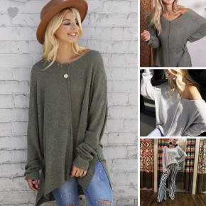 Easy Go Oversized Sweater Tunic with Center Seam