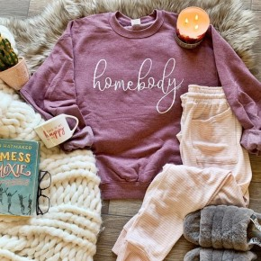 Heather Mauve Homebody Sweatshirt