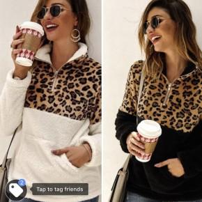 leopard Sherpa Pullover