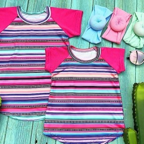 Girls Pink Serena Serape Top