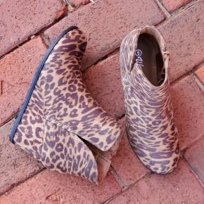 Gina Leopard Booties