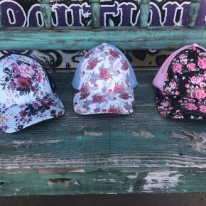 Floral Mesh Caps