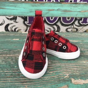 Kids Buffalo Plaid Blowfish