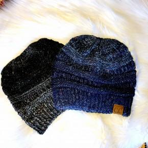 Speckle Knit Ombre Beanies