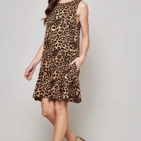 Pocket Leopard Dress