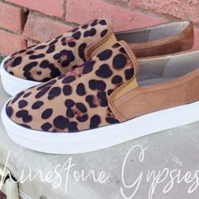 Ellie Leopard Slides