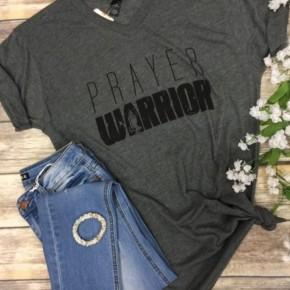 Prayer Warrior Dark Grey Tee