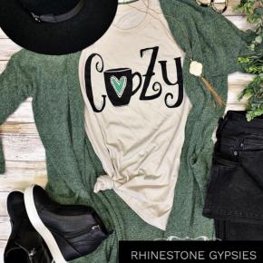 Olive Fuzzy Sweater Cardigan