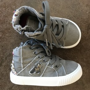 Fruitcake Gray Kids High Top Sneaks