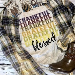 Thankful, Greatful, Blessed Tee