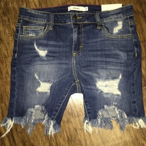 Cello Denim Ripped Shorts
