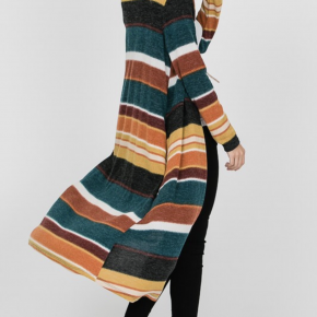 Striped Autumn Duster
