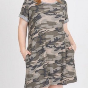 Brynlee Vintage Camo Dress