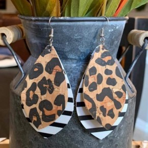 Leopard Layered Sallows Earrings