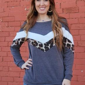 Falon Leopard Top