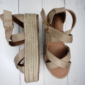 Taupe Strappy Gladiator Sandals
