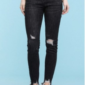 Judy Blue Distressed Black Skinny Jeans