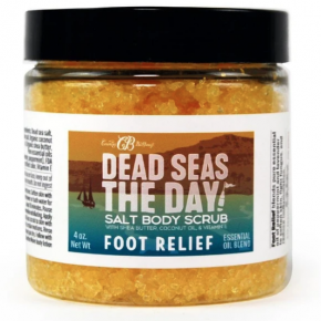 Country Bathhouse Dead Seas the Day Salt Scrub for Foot Relief