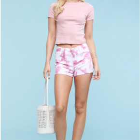 Judy Blue Blush Tie Dye shorts