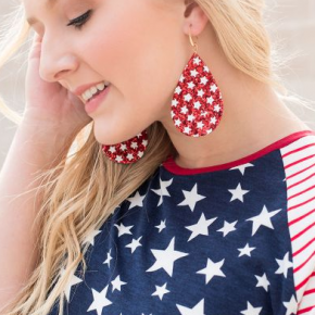 Star Spangled and Sparkling Earrings