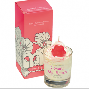 Bomb Cosmetics - Coming Up Roses Piped Glass Candle