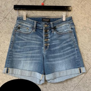 Judy Blue Button Fly Cuffed Shorts