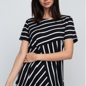 Black & White Striped Tunic