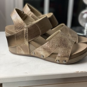 Corky's Bronze Wedge Sandal