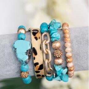 Turquoise Rock & Prowl Bracelet Set