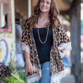 Leopard and Lace Kimono