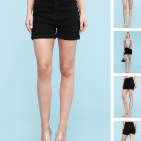 Judy Blue Black Cuffed Shorts