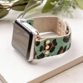 Turquoise Leopard Smart Watch band