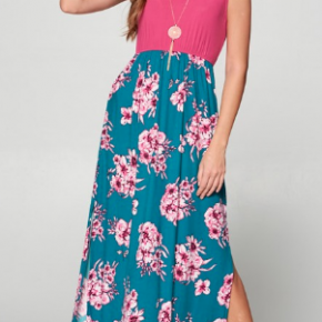 Floral Maxi Dress with Criss Cross Back Detail *Final Sale*