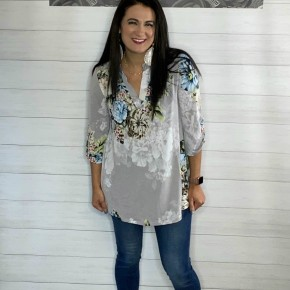 Silver Floral Tunic